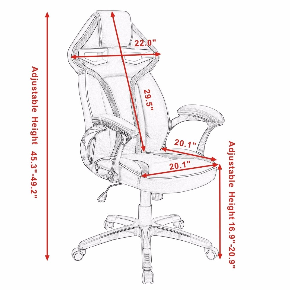 office chair drawing. Exellent Chair Goplus High Quality Racing Bucket Seat Office Computer Chair Back  Gaming Desk Task Ergonomic Swivel Armchair HW54987in Chairs From  To Drawing O
