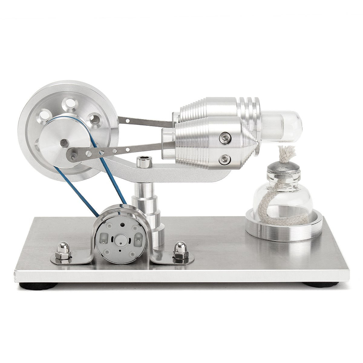 все цены на New Arrival Stainless steel Mini Hot Air Stirling Engine Motor Model Educational Toy Science Experiment Kit Set For Chuldren