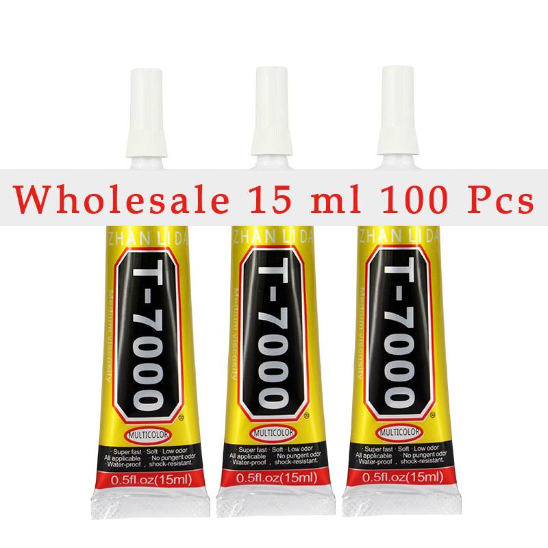 Wholesaler 100 Pcs Black T7000 Glue 15ml Super Adhesive Cell Phone Touch Screen Repair Frame Sealant