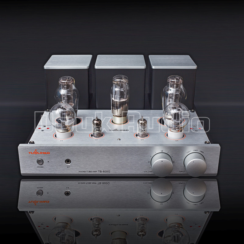 Douk Audio 300B+Antique 6F8G-Q 12AX7 Tube Amplifier Class A Single-ended HiFi Power Amp 8W*2 l passam gold field effect transistor audio power amp single ended class a 2 25w hifi amplifier