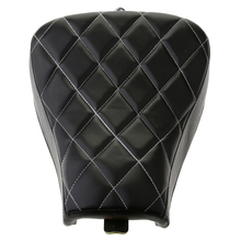 Black Motorcycle Stitching Front Driver Solo Seat Cushion For   Sportster XL1200 350*275*70mm Leather & Sponge Seat Cushion