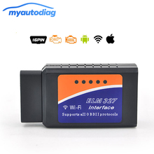 Super Mini ELM327 Wifi Bluetooth V1.5 OBD2 OBDII Code Reader ELM 327 Auto Diagnostic Scanner Tool ELM-327 for Android iOS Phone
