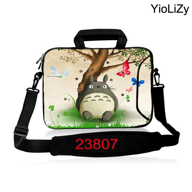 print Totoro Laptop shoulder Bag 10.1 11.6 13.3 14.1 15.6 17.3 inch women protective Messenger case men Notebook sleeve SB-23807
