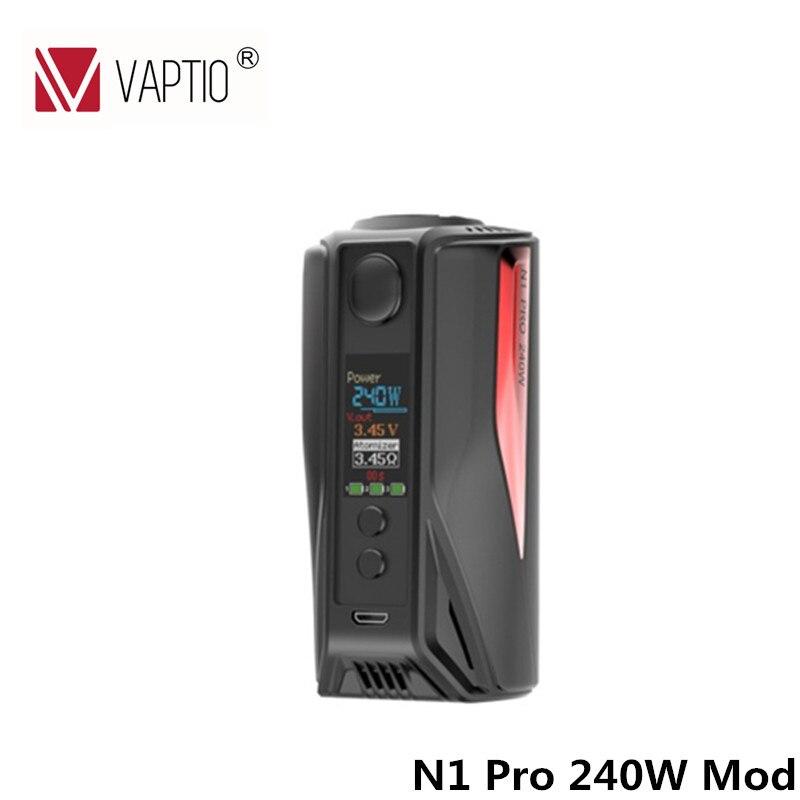 Original Vaptio N1 Pro 240 W LITE Mod vape Cigarro Eletrônico mod com Tela OLED de 0.91 polegada Apoio VW 18650 bateria fit TFV8
