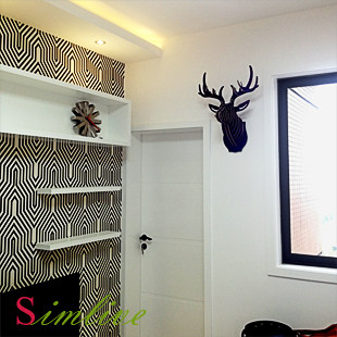 Nodic Deer Head Wall Wooden Crafts For Home Decorations Animal Decor Wood Carving Christmas Decoration