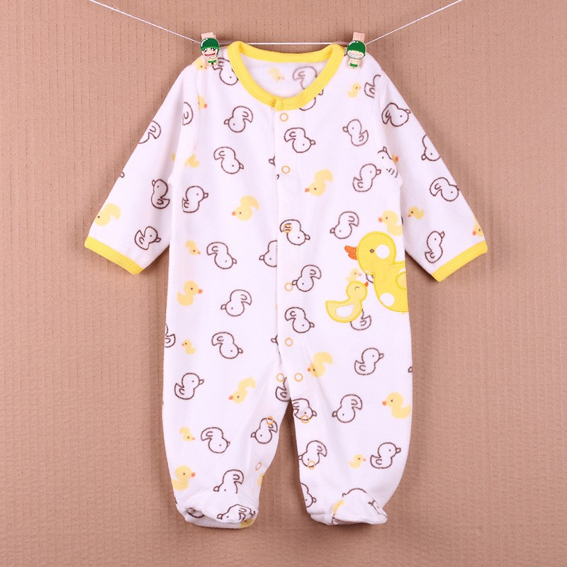 New Arrival Baby Footies Boys&Girls Jumpsuits Spring Autumn Clothes Warm Cotton Baby Footies Fleece Baby Clothing Free Shipping (30)