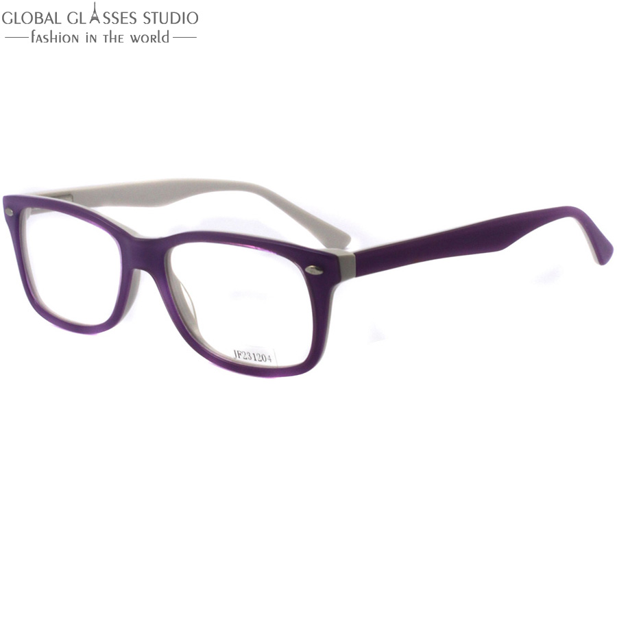 new high quality women spring hinge light purple and white clean lens glasses frameeyeglasses