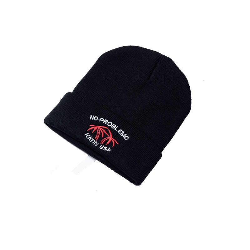 Зимние шапочки с вышивкой, вышитый вашим собственным логотипом, индивидуальные модные теплые шапки унисекс эластичные трикотажные лыжные шапочки