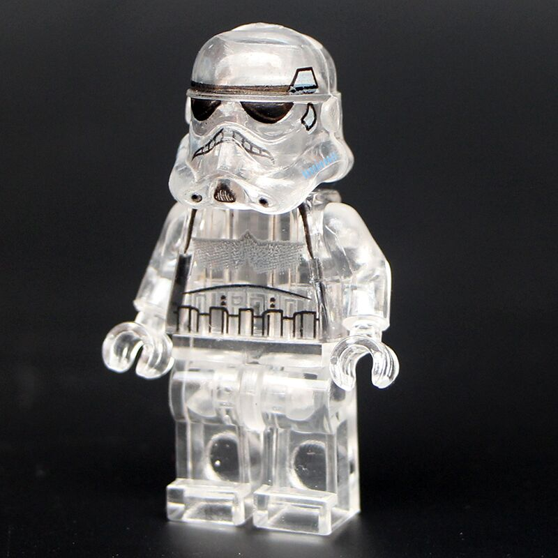 Single Sale Action Figures Space Transparent Trooper Shuttle Building Blocks Collection Toys For Children PG40