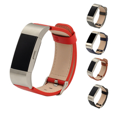 2018 New Arrival 23cm Genuine Leather Wristwatch Band Watch Strap For Fitbit Charge 2 Tracker 5 Colors for Choice