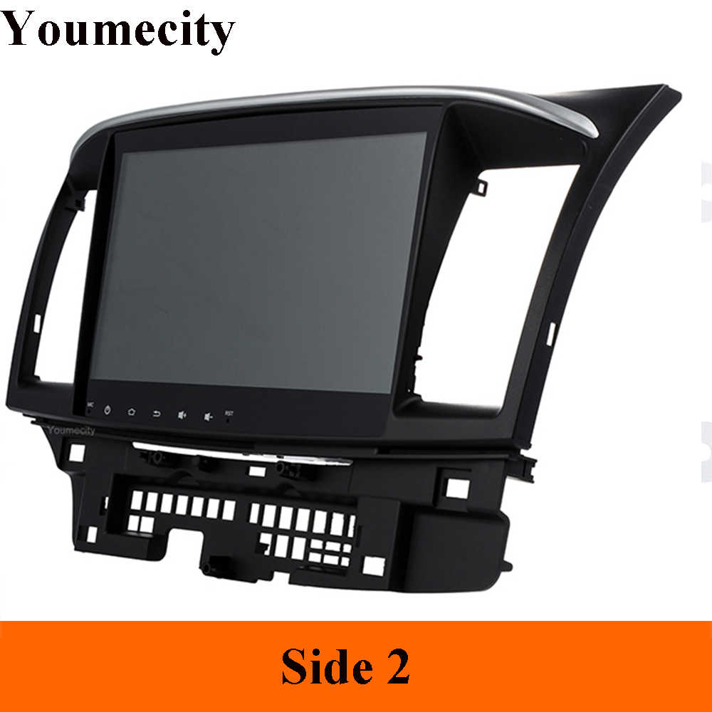 Youmecity アンドロイド 9.0 車の Dvd マルチメディアプレーヤー三菱ランサー 2007-2018 9 × 10.1 インチ 2DIN 3 グラム /4 グラム GPS ラジオビデオプレーヤー