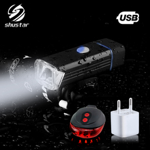 USB charging bicycle light 4 lighting mode LED flashlight portable waterproof easy to install night riding accessories