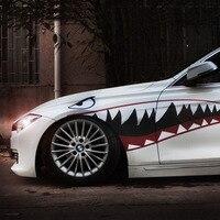 1 זוגות רכב מדבקת מדבקות ויניל עיצוב פה כריש Warhawk 2 אביזרי עיצוב מכונית האוטומטי כוונון 150x51 ס