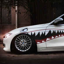 1 Pair Car Sticker Decal Shark Mouth Warhawk 2 Design Vinyl 150x51cm Tuning Auto Car Styling