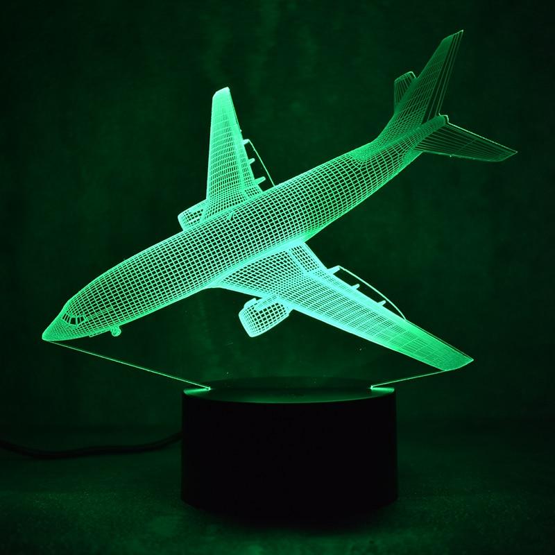 Nouveauté 3D Led Luminaire Coloré Luminaire USB Table Lampe Chevet - Veilleuses - Photo 4