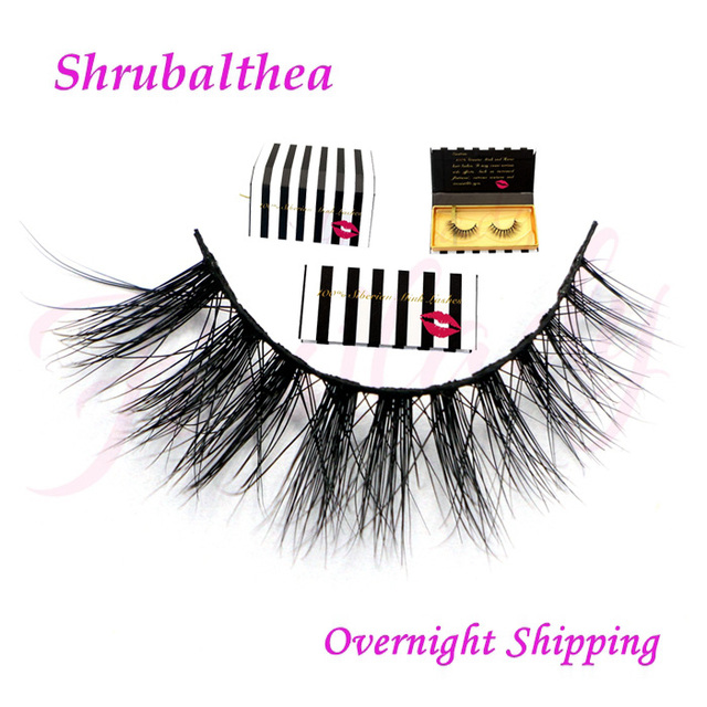 Free shipping top quality luxury 100% real siberian mink false strip eyelashes 3d mink lashes