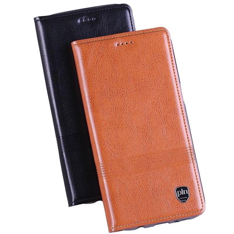 imágenes para Genuine leather case para xiaomi redmi 4 pro 4pro soporte del tirón Magnética de alta Calidad de cuero de Vaca de Lujo Cubierta Del Teléfono Móvil + Regalo