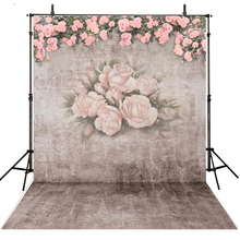 Floral Wall Photography Backdrops Kids Vinyl Backdrop For Photography Wedding Background For Photo Studio Foto Achtergrond
