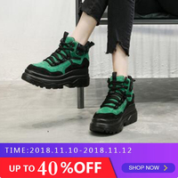 Women Spring Autumn Casual Shoes High Top Fashion Sneakers Women Breathable Genuine Leather Platform Shoes Tenis Feminino MC 16