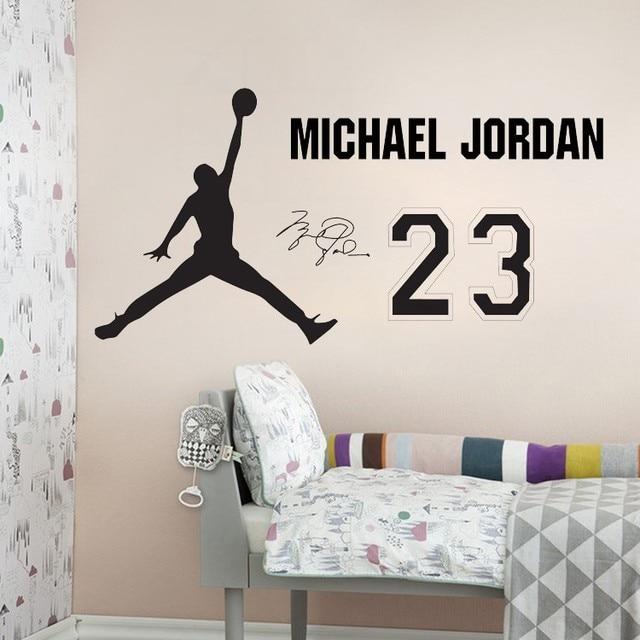 Fesselnd Basketball Spieler Wand Aufkleber Für Baby Zimmer Abnehmbare Vinyl Tapete Kinderzimmer  Dekoration Aufkleber