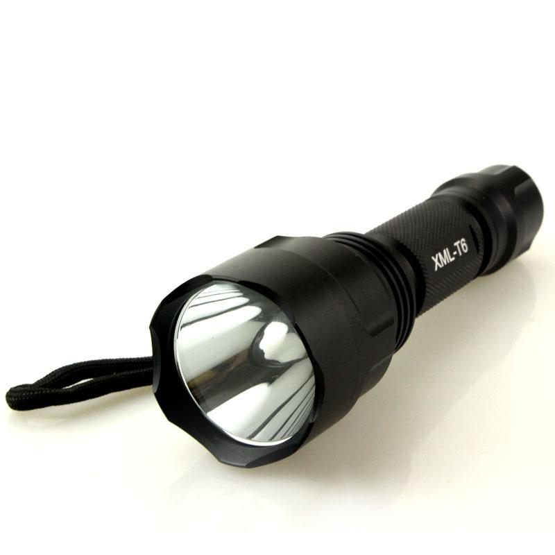 senter dipimpin 5000 lumens cree xml t6 senter lampu senter didukung - Pencahayaan portabel
