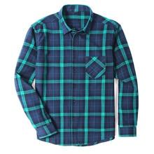Cotton Flannel Men's Plaid Shirt Slim Fit