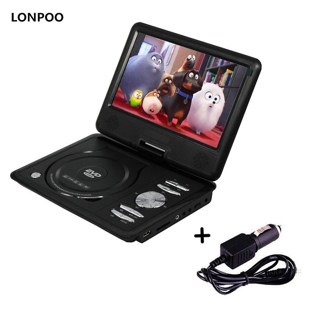 buy lonpoo portable dvd player rca car. Black Bedroom Furniture Sets. Home Design Ideas