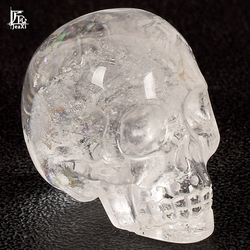 2 inch Handmade Natural rock quartz Crystal Carved Skull Realistic Fengshui healing ability Stone Home Ornament art collectible