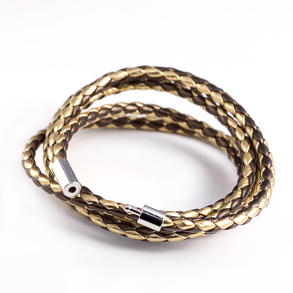 Aliexpress Hot Cheap Men Vintage Genuine Leather and Stainless Steel Wrap Bracelet Personality Punk Charm Chain Cool Bracelet