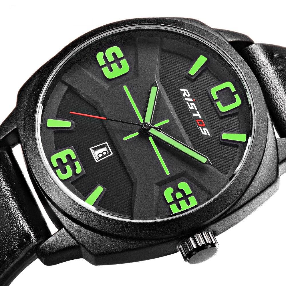 где купить LONGBO Luxury Leather Strap Brand Watches Sports Men Water Resistant Business Watch Male Easy Read Auto Date Wristwatches 9333 по лучшей цене