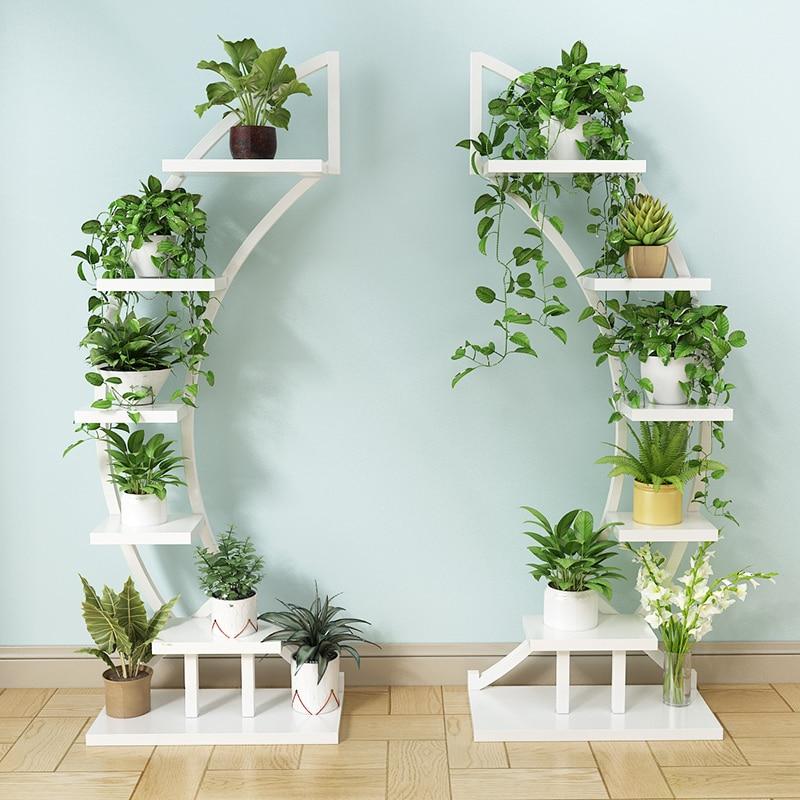 Plants Inside Rooms: 2pcs Standing Flower Shelf .Living Room & Balcony Plant