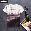Nueva Primavera Verano 3d Camiseta para Los Hombres y Las Mujeres de La Novedad espacio Cráneo Diablo Estatua Sheepshead Impresión Poleras Hombre De Marca YZ781