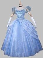 Cosplay Princess Cinderella Blue Adult Costume Halloween Costume Party Dress