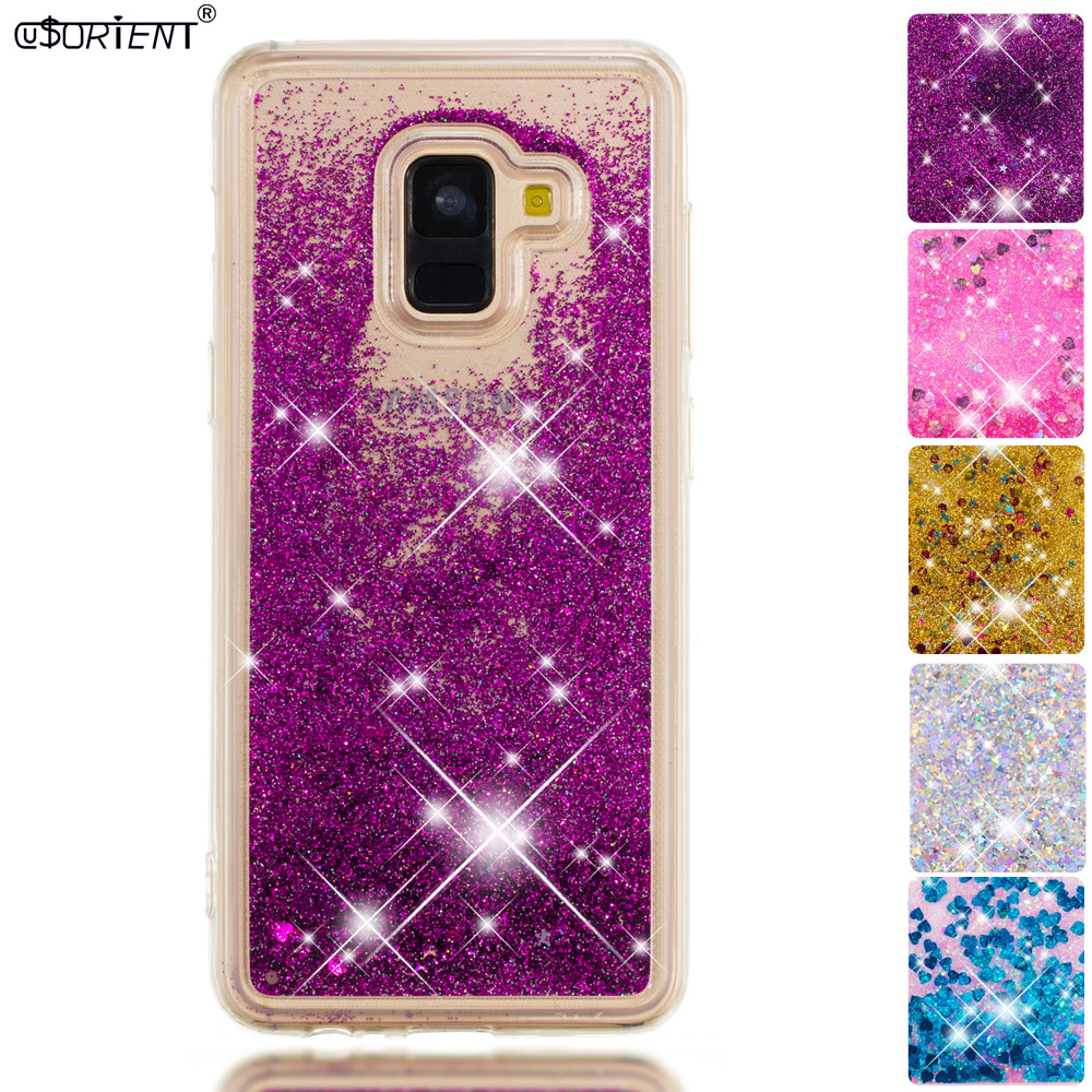Cellphones & Telecommunications Half-wrapped Case For Samsung Galaxy A8 A5 2018 Bling Glitter Liquid Quicksand Fitted Case Sm-a530f/ds Sm-a530w A530x Soft Silicone Phone Cover