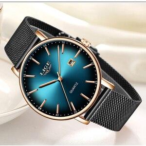 Image 1 - 2019 relógio feminino moda simples lige topo marca relógio de quartzo luxo criativo à prova dwaterproof água data casual senhoras relógio relogio feminino