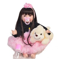 22inch So Lovely Reborn silicone 55cm bebe Baby Doll Toy Real Like vinyl newborn Reborn Boneca lol Doll collection for sale toys