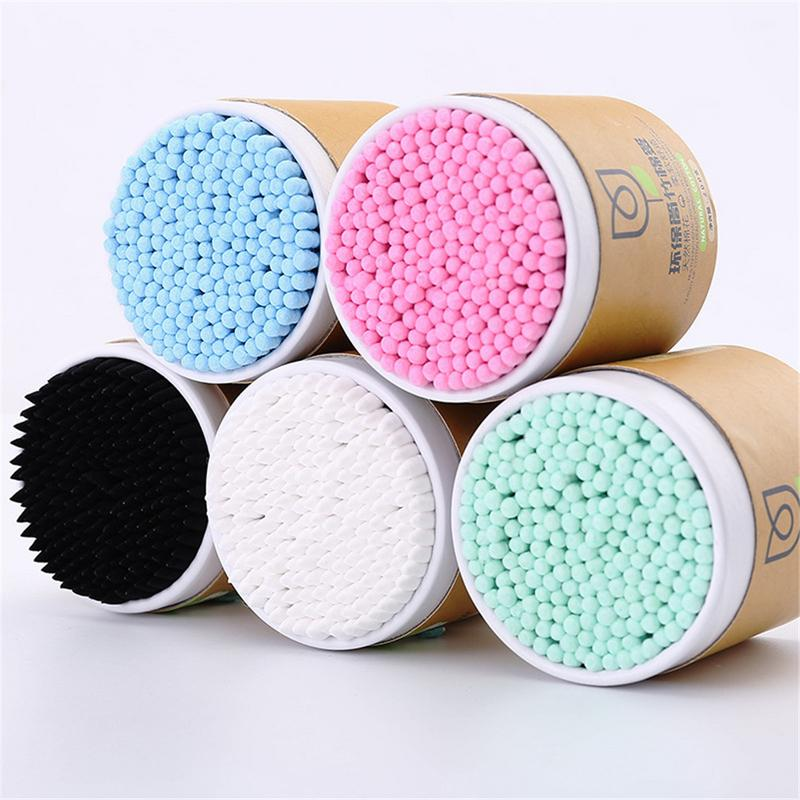 200pcs/tube Double-headed Swabs Bamboo Cotton Soft Cotton Ear Cleaning Disposable Cotton Swab