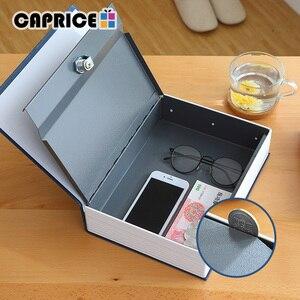 Image 1 - Metall Sparschwein Versteckte Buch Safe Geld Box Savimg Lagerung Box für Kinder Kid Schmuck Hause Dekoration Zubehör SB S