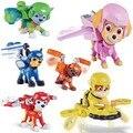 6 Unids Lindo Figuras de Acción Juguetes de Los Niños Del Perrito Perros Patrulla de Rescate Aéreo Juguete Creativo Significativa Kids Regalos TF0152