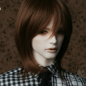Ny ankomst 1/3 BJD Super Dollfile Hair Wig Hög temperatur Wire Short Wig för pojkar BJD Doll