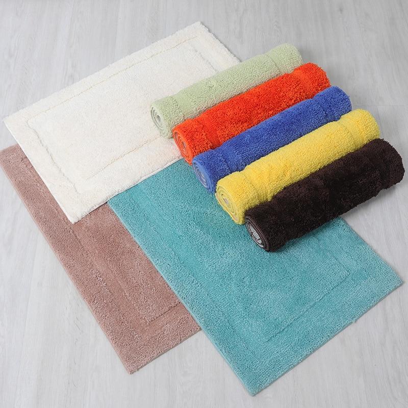 Classic Solid Color Bath Rug Door Mat Bathroom Carpet Anti ...