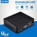 Mini windows 7 thin client com 32 bocado X-29 celeron J1800 2 * RJ-45 2 g ram 32 g ssd wi fi suporte de baixa tensão CPUs