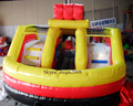 2016 new design PVC popular car bounce house for kids with slide/ indoor playground for kids/playground sets