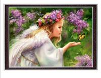 Needlework Crafts Gift DIY 14CT unprinted for embroidery DMC Quality Counted Cross Stitch Kits Girl Set Butterfly Angel patterns