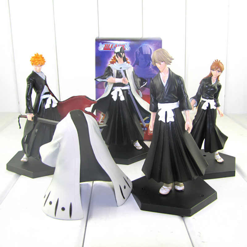 Anime Bleach Figuur Kuchiki Byakuya Kurosaki Ichigo Bleach Pvc Action Figures Model Speelgoed Pop 4 Stks/set