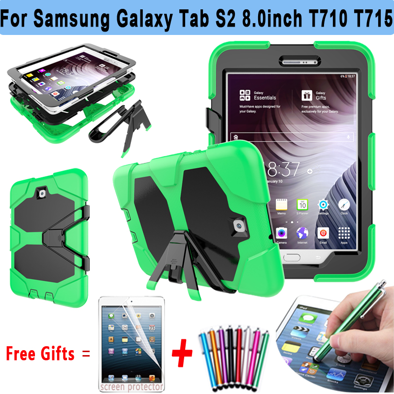 Armor Kickstand Cover For Samsung Galaxy Tab S2 8.0 T710 T715 Case Silicone Cover for Samsung Galaxy Tab S2 8.0 T710 T715 T719N