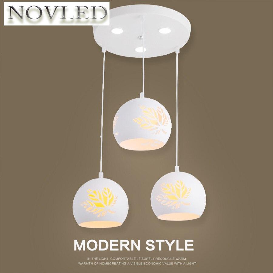 Creative Livingroom Modern Pendant Ceiling Lamps Personality Art Bedroom Restaurant Iron Pattern Hollow Warm Maple Leaf Lamp