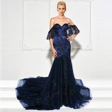 Tanpell sweetheart evening dress lace floor length tulle gown women custom mermaid formal dresses