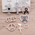 Lo nuevo de decoración Rhinestone de la Aleación de Plata/Oro Tono Corazones de la Historieta/Niñas/símbolo de Paz/en Forma de Cruz Colgantes de Metal encantos
