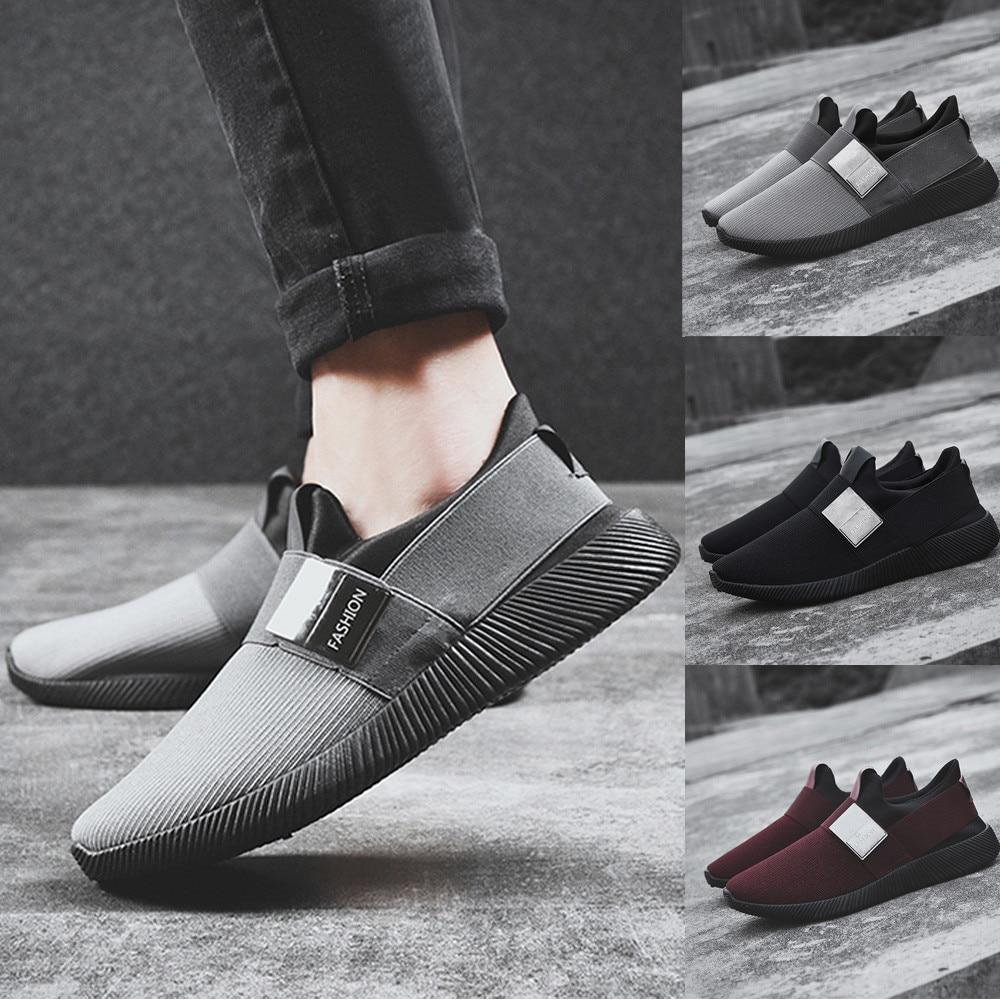 Men Mesh Round Toe Ventilation Shoes sneakers mens summer men casual ... f4f2bd642f49